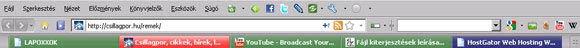 Firefox Eszköztár
